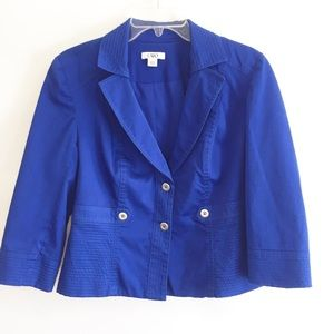 Cato royal blue cropped blazer Size L.